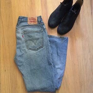 Levi's 505 Straight Leg Men's Jeans Medium Wash